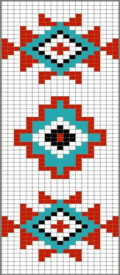 Versatile And Unique Free Crochet Patterns - Hairstyle Tapestry Crochet Patterns, Bead Loom Patterns, Weaving Patterns, Cross Stitch Patterns, Aztec Patterns, Motif Navajo, Navajo Pattern, Native American Patterns, Native American Beading