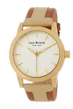 Round Colorblock Strap Watch by Isaac Mizrahi on @nordstrom_rack