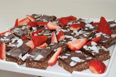 Chocolate Slice with Strawberries