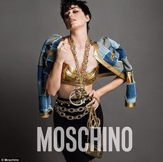 Katy Perry bares her boy in latest Moschino campaign image