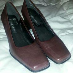Ladies 2.5 inch dress heels Burgundy dress heels Nine West Shoes Heels