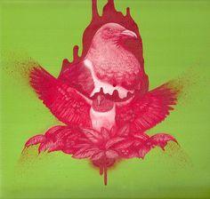 Jermaine Reihana Acrylic on canvas 2010 Pigeon Bird, New Zealand Art, Maori Art, Kiwiana, Bird Art, Medium Art, Printmaking, Amazing Art, Pop Art