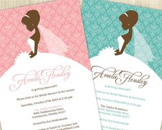 Bridal Shower Invitation Bridal Shower Invite by MemDesignShop