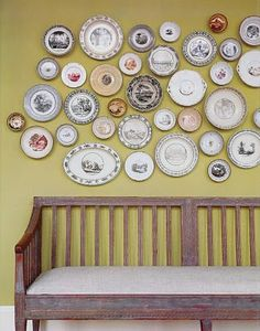 seriously want to do a plate wall in my dining room.