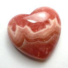 Rhodochrosite Heart Cabochon AAA Grade Beautiful Pink by saxdsign
