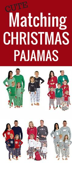 Cute Matching Christmas Pajamas! Matching Pajamas For Christmas Time For  The Entire Family! Matching e8c38a6bc