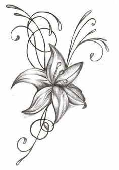 Image from http://floweryweb.com/wp-content/uploads/2015/02/tiger-lily-flower-drawing-77rst2oa.jpg.