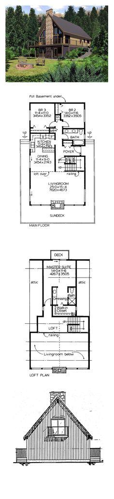 Superior Hillside House Plan 90930 | Total Living Area: 1702 Sq. Ft., 3 Good Ideas
