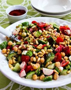 If you're a fan of the Lebanese salad calledFattoush, you'll love thisFattoush-Inspired Chopped Salad with Tahini-Buttermilk Dressing, Chickpeas, Sumac, and Pine Nuts, and this tasty salad is low-glycemic, gluten-free, meatless, and South Beach Diet friendly. If you want less carbs, omit the chickpeas and use more of the other ingredients.Use theRecipes-by-Diet-Type Indexto find more recipes…