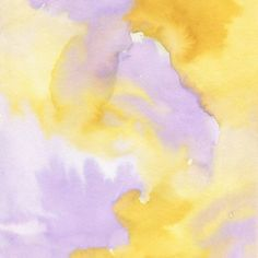 Lilac lavender sunflower yellow abstract watercolor Throw Pillow
