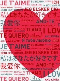 Je t'aime dans toutes les langues