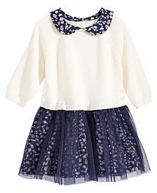 First Impressions Tulle-Skirt Sweater Dress, Baby Girls (0-24 months), Created for Macy's