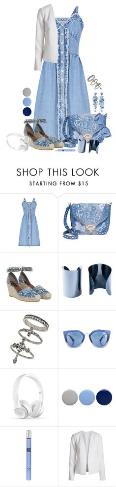 """""""Untitled #1880"""" by ebramos ❤ liked on Polyvore featuring FLOW the Label, Valentino, Maison Margiela, Miss Selfridge, Prada, H&M, Burberry and Thierry Mugler"""