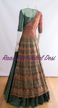indian clothing ONLINE USA Silk brocade top with golden embroidery with matching bottom and dupatta Kurti Designs Party Wear, Kurta Designs, Blouse Designs, Indian Designer Outfits, Indian Outfits, Designer Dresses, Indian Clothes Online, Indian Gowns Dresses, Dress Neck Designs