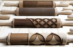 Major Lasers! Check Out This Badass Set Of Laser-Cut Rolling Pins. | Food Republic