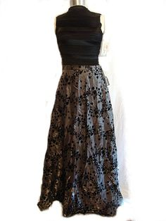 sz 10 3 pc Vintage Black & Silver  holiday by BellaroseSignature