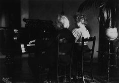 Edvard and Nina Grieg at the piano.
