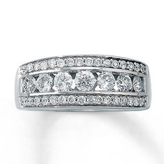 Diamond Ring 1 ct tw Round-cut 14K White Gold