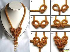 Ожерелья из морских узлов - мастер-класс