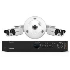 First Alert 16-Channel HD 4TB Surveillance NVR with (1) 3MP Camera and (4) Indoor/Outdoor 1080p Bullet Cameras