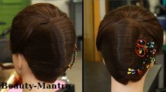 This is a French roll (vertical roll) #hairstyle . This is a great #hairstyle for evening parties. A very elegant hairstyling tutorial by Khampui. Hair Stylist - Khampui ... https://youtu.be/Z4SBDrcgo_o
