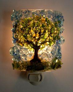 recycled glass nightlight, very cool.