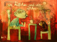 Ein Käffchen und ein Äffchen                                                               A little coffee and a small monkey