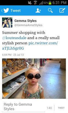 """""""and a really small stylish person"""" sounds like something her brother would say. -I"""