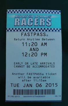 Disneyland FASTPASS - Radiator Springs Racers