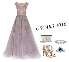 """OSCARS 2016"" by lowrilester ❤ liked on Polyvore featuring Georges Hobeika, Aquazzura, Yves Saint Laurent, Harry Kotlar and Kobelli"