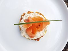 Smoked salmon with cream cheese in zucchini and corn fritters