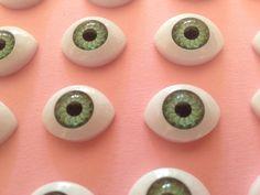 Ojos verdes seguridad accesorios para tus muñecos doll por YBatchi $0 #eyes #reborn #dolls