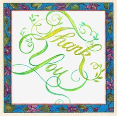 Handmade Swirls & Glitter ThanK You art card by paintdcottage, $25.00