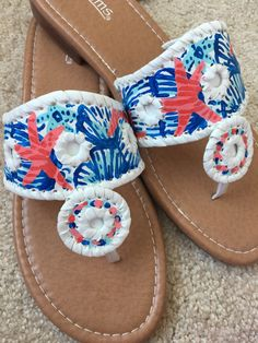 f5829cab609 Lilly Pulitzer Inspired Sandals She She Shells by SimplySanger