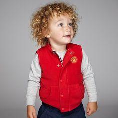 Manchester United Fleece Gilet - Red - Baby Boys