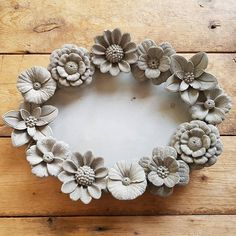 Silicone - Casting Mold - Very Beautiful Flower Paper Clay Art, Clay Wall Art, Clay Art Projects, Clay Crafts, Clay Flowers, Ceramic Flowers, Very Beautiful Flowers, Pottery Designs, Ceramic Clay