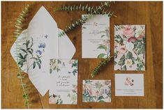 Botanical Wedding Stationery #green #pastel #flowers