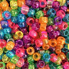 Mix Pony Beads Contains a mix of opaque, transparent, glitter and pearls. Size Authentic American Pony Beads from The Beadery USA Comes in a grip sealed packaging bag Rainbow Aesthetic, Aesthetic Indie, Pink Aesthetic, Indie Outfits, Pram Charms, Dummy Clips, Foto Art, Digital Wall, Pony Beads