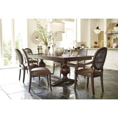 Winnetka Light Mahogany Rectangular Extendable Dining Table
