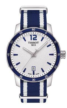 Tissot Quickster Men & Women's Quartz Silver Dial with Blue Synthetic Strap