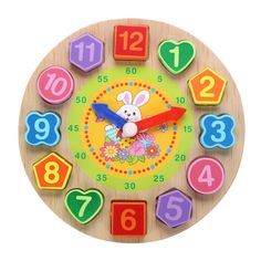 Turtle for Ages 2-4 Red Fish Toys Eco-friendly Wooden Numbers Preschool Puzzle