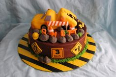 Another dump truck cake. I think this one would actually be do-able.