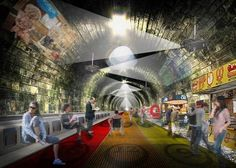 Turning the London underground into a moving walkway  , - ,   A conceptual pla...
