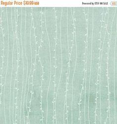 40 Off SALE SWEET SERENADE Moda Basic Grey shabby quilt fabric romantic opal mint aqua twigs woodland branches 1 yard 30346-15