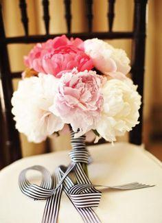 REVEL: Striped Ribbon Bouquet Wrap --[bridesmaids]