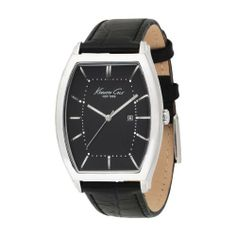 Kenneth Cole New York Men's KC1614 Analog Quartz Leather Strap Watch Kenneth Cole. $74.99. Case material: stainless-steel. Dial color: black. Band material: leather-pig-skin. Display Type: analog. Band Color: black. Save 12% Off!