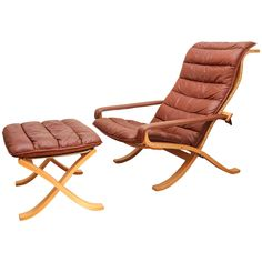 Westnofa Siesta chair and ottoman designed by Ingmar Relling. | 1stdibs.com