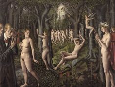 The Awakening of the Forest, Paul Delvaux, 1939, Surrealism with a sexuality theme