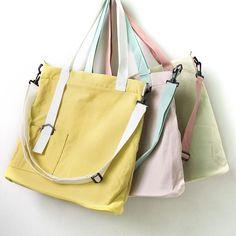 Casual Large Capacity Women Canvas Shoulder Bag - Buykud