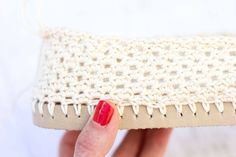 Lion Brand 24/7 Cotton used on a flip flop crochet shoe.